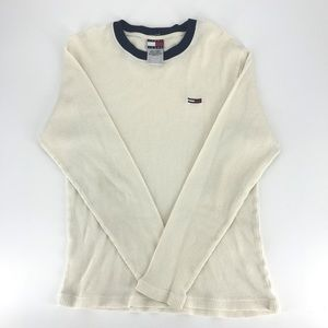 Men's Tommy Hilfiger White/Cream Thermal Pullover
